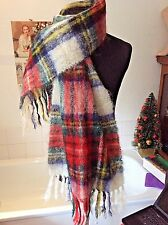 "vintage Royal Scot ~ mohair/ wool blend large scarf shawl wrap ~ 63"" x `19"""