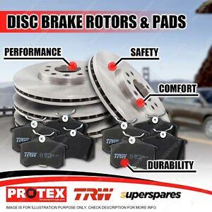 Full Set Front + Rear Disc Rotors Brake Pads for Porsche Panamera 970 10-on