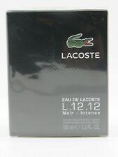 Lacoste L.12.12 Black Noir Intense by Lacoste 3.3 EDT SPR FOR MEN'S*COLOGNE NEW