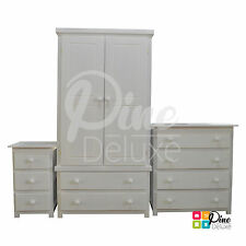 HANDMADE SHAKER WHITE 3 PIECE BEDROOM SET *LIMITED TIME ONLY* (ASSEMBLED)