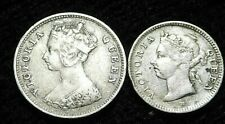 Hong Kong  1891 5 Cents , 1897 10 Cents Both Silver Queen Victoria   A48-367