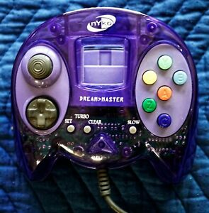 Nyko Dream Master Sega Dreamcast Clear Purple Controller N/M