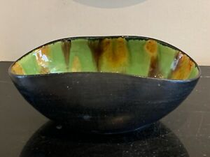 Mid Century Litestar Green Glazed Art Pottery Bowl