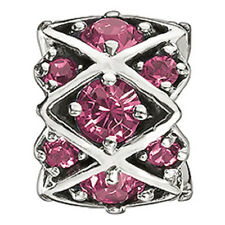 Authentic NEW Chamilia Pink Swarovski Shimmering Stones Bead Charm JB-36D