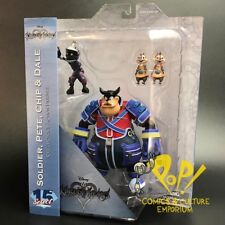 KINGDOM HEARTS Select Series 2 PETE with CHIP & DALE Figure Set Diamond Select!