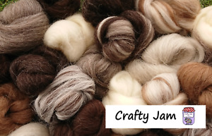 Needle/Wet Felting Natural Wool, Roving 20-500 g Ideal for Animal Projects