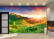 Sunrise in the Mountains Wall Mural Photo Wallpaper GIANT DECOR Paper Poster