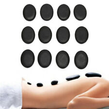 12pcs 3*4cmMassage Stones Massage lava Natural Energy Massage Set Hot Spa RockTL