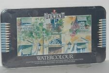 Derwent Pencil draw water color Watercolor paint pencils Metal Tin 3.4mm Set 36