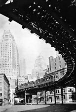 Third Ave El Train Poster, Bronx & Manhattan, New York City 1930's