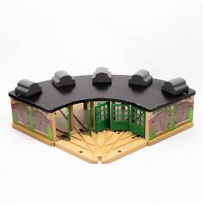 THOMAS & FRIENDS WOODEN RAILWAY TIDMOUTH TRAIN ENGINE SHED for BRIO ELC SETS
