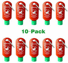 Sriracha Mini Refillable Hot Sauce Keychain Bottle 1.69oz 10-Pack(Shipped Empty)