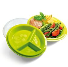 Precise Portions 2-Go Healthy Portion Control Plates Pack of 2 BPA-Free 3-Sec...