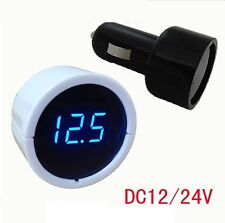 12V-24V Digital LED Display Volt Meter Auto Car Cigarette Lighter Voltage Gauge