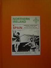 European Championship Qualifier - Northern Ireland v Spain - 16th February 1972