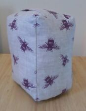 Purple Linen Bee, Bumble Bee Fabric Door Stop, Door Stopper, Shabby Chic