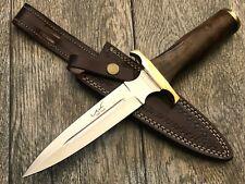"""ASH HK77CUSTOM HANDMADE HUNTING DAGGER KNIFE 440C STEEL 12"""""""