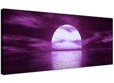 Purple Large Canvas Print of Seascape  - 120cm x 50cm - 1002