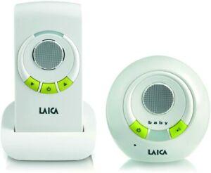 Laica BC2002E Audio Baby Monitor, Bianco/Verde Controllo audio per Bambini