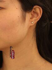 Boucles d`Oreilles Clous Perle de Culture Plate Argent 925 Rose 4mm-5mm Class