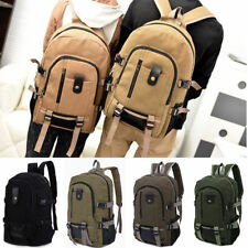 Men Vintage Canvas Backpack Rucksack Schoolbag Travel Sport Hiking Camping Bag
