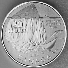 Canada 2013 $20 Iceberg and Whale - 1/4 oz. Pure Silver (99.99%) Specimen Coin