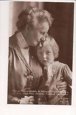 Vintage Postcard Prince Alexander Ferdinand of Prussia & Grandmother