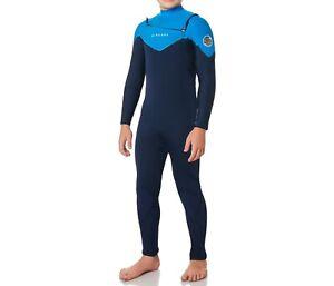 RIP CURL JUNIOR DAWN PATROL 4/3 Chest-Zip Wetsuit - BLU - Size 16 - NWT