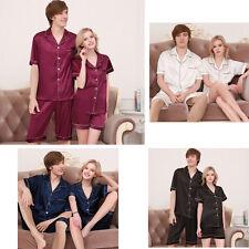 Women Men Silk Satin Homewear Pajamas Pyjama Sleepwear Nightwear Loungewear