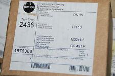 SAMSON 1876388 HYDRAULISCHE STEUERUNG DN 15 PN 16 TYP 2438 M32x1,5 NEU