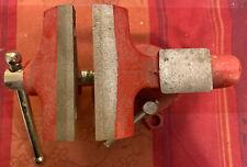 Schraubstock aus Stahl mit Amboss für Werkbank Spannweite Rot Zwinge Schrauben