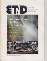 Electronic Technician Magazine 1980 Wards TV schematic  Triplett ad / e7