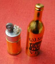 """Briquet bouteille publicitaire à essence"""" GAI SOLEIL. CARTE D'OR. V.D.N """"LIGHTER"""