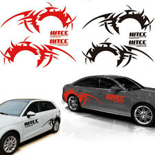 Pair Red Vinyl Car Side Body Long Wheel Eyebrow Flame Hot Wheel Decal Stickers