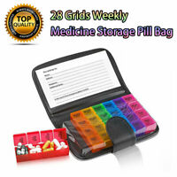 7-Day Weekly Daily Large Pill Box 28 Slot Medicine Organizer Storage Dispenser