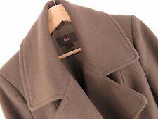 F682 Reiss Cappotto Originale Premium Lana Cashmere a Doppio Petto unico Taglia L