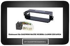 Radioblende + ISO Adapter für DAEWOO MATIZ NUBIRA LANOS LEGANZA Einbaurahmen