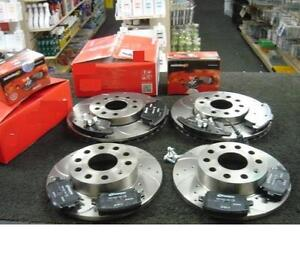 AUDI A4 3.2FSi S LINE SPECIAL EDITION (B7) BRAKE DISC DRILLED GROOVED & PADS
