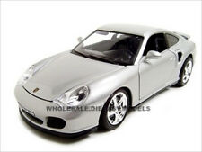 PORSCHE 911 TURBO SILVER 1:18 DIECAST MODEL CAR BY BBURAGO 12030