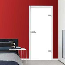 VSG Ganzglastür Drehtür Glas Zimmer Tür Glastür hochglanz weiß 709x1972