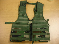 NEW WOODLAND CAMO MOLLE FLC VEST, ZIPPERED FRONT SPECIALTY DEFENSE SDS GI ISSUE