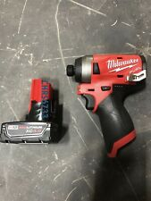 New Milwaukee 2553-20 M12 12v FUEL 1/2 Brushless Impact Drill Driver 4.0 Battery