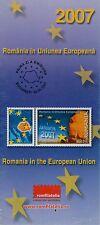 Rumänien 2007 Beitritt Rumäniens zur EU Mi.6157,Zf.,4-er Block,KB,Bogen,FDC