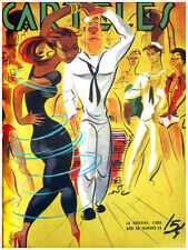 "11x14""poster on CANVAS poster.Room art.U.S Marine dances w/black girl.6883"
