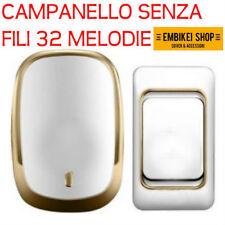 CAMPANELLO SENZA FILI WIRELESS 32 MELODIE DOORBELL WIFI CASA PORTA CITOFONO
