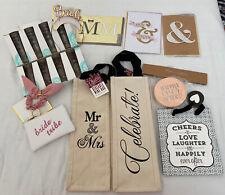 Wedding Bride Bundle Gift Bags Cards Coasters Tiara Shot Glasses Keychain Nwt