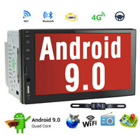 "Android 9.0 7""Double 2 DIN Car Radio GPS Player WIFI BT Navi With Backup Camera."