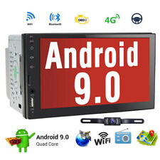 """Android 9.0 7""""Double 2 DIN Car Radio GPS Player WIFI BT Navi With Backup Camera."""