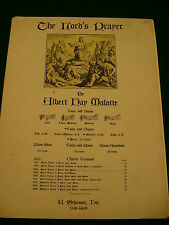 The Lords Prayer sheet music Albert Hay Malotte voice & paino copyright 1935