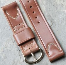 Extra Short Shell Cordovan horse leather tan USA-made 16mm vintage watch strap